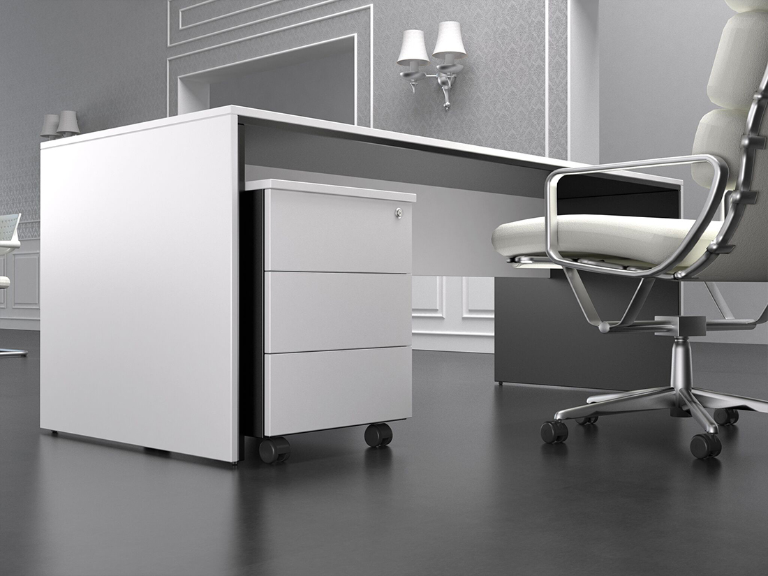 Proyectos de dise o de oficinas mamparas de vidrio falsos techos - Mesas despacho diseno ...